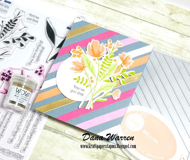 Dana Warren - Kraft Paper Stamps - PinkFresh Studio, Catherine Pooler Inks
