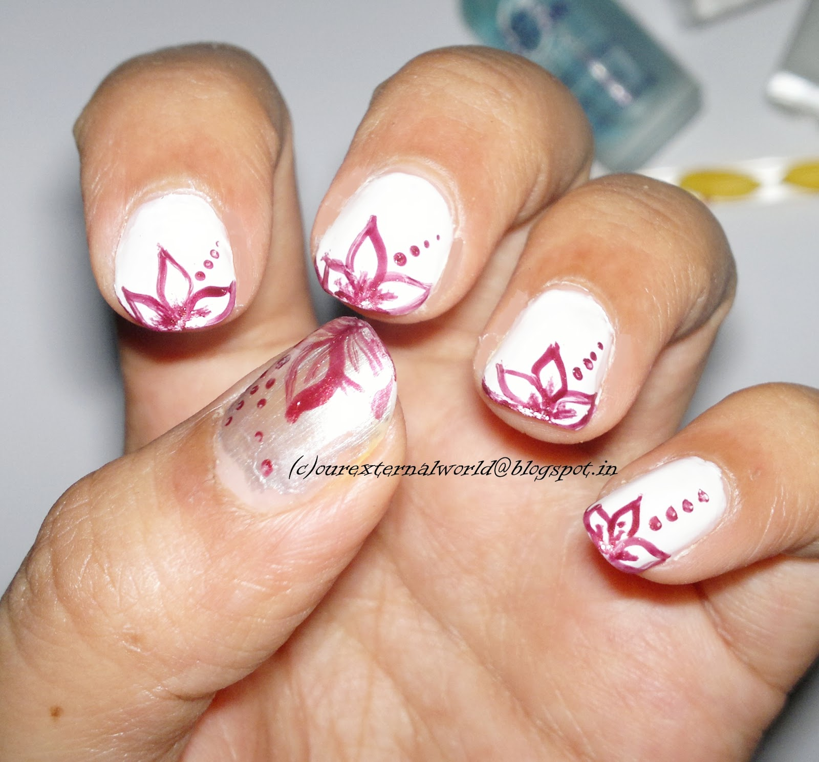 Girly Girl Nail Art Challenge - 3 - Delicate and Elegant - Floral ...