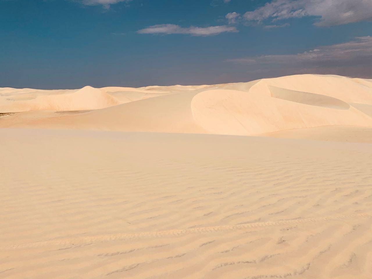 areias fofas em meio ao oasis