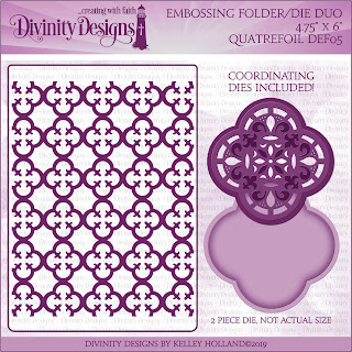QUATREFOIL (EMBOSSING FOLDER/DIE DUO)