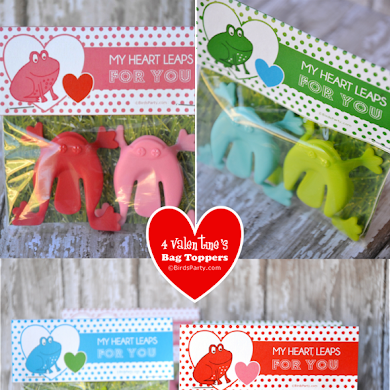 Free Valentine's Day Printable Favor Bag Toppers