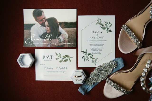wedding invitation suite and decor