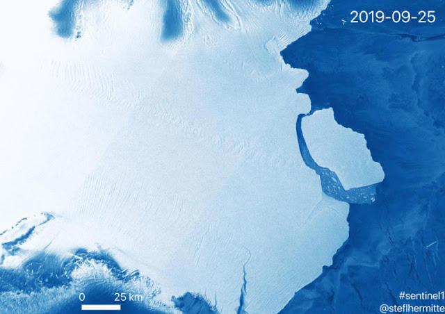 Τρόμος! Παγόβουνο όσο 15 φορές το Παρίσι (!) αποκολλήθηκε από την Ανταρκτική