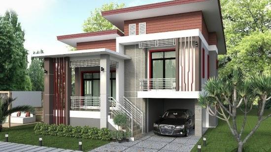 Lingkar Warna 11 Desain Rumah Modern 2020 Dengan Split Level