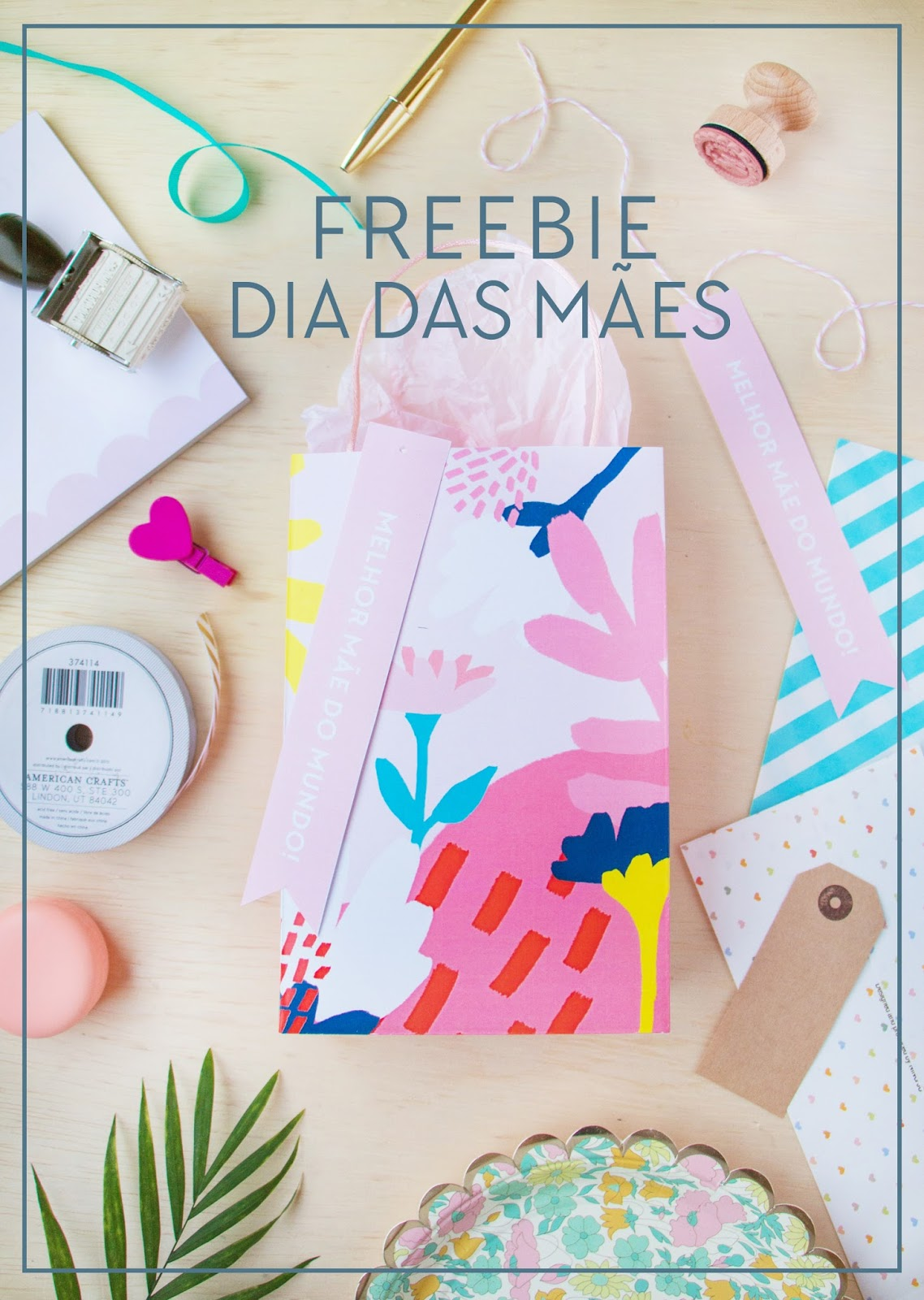 sacola floral gratis para download blog do math