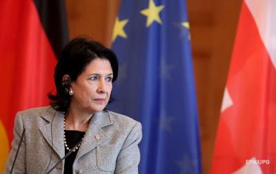 Президент Грузії відклала приїзд в Україну