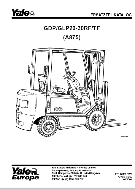 yale forklift - lift truck parts catalog