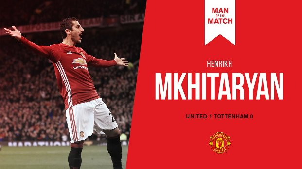 Henrikh Mkhitaryan Man of the Match MU vs Spurs 1-0