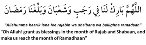 Dua in shaaban Month