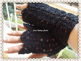 crochet gloves, fingerless gloves