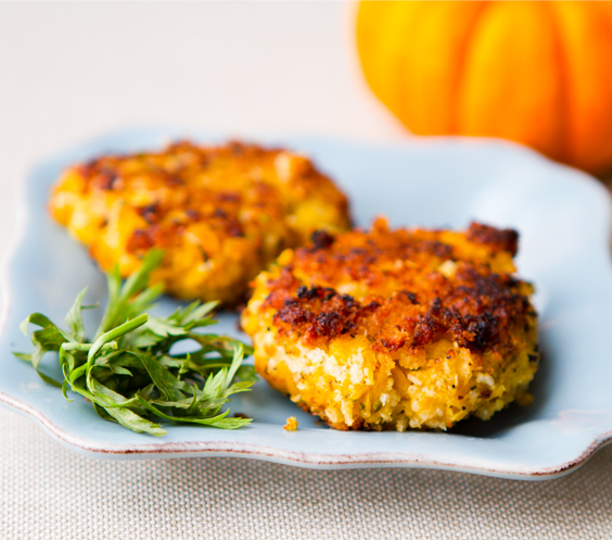 recipe: pumpkin and chickpea patties [1]