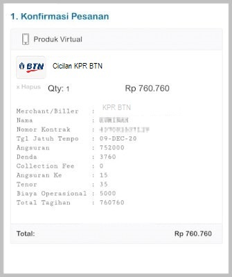 cek tagihan KPR BTN secara online