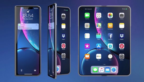 iPhone X Fold (2020) Shows Potential Apple Foldable Phone