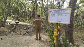 Pembangunan Cor Jalan Desa di Dusun Purwosari RT 01/RW 03