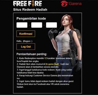 Kode Redeem free fire November 2019, Cepat Redeem dan dapatkan hadiah menarik