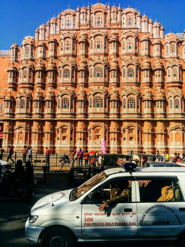 Famous Hawa Mahal of Jaipur, Rajasthan