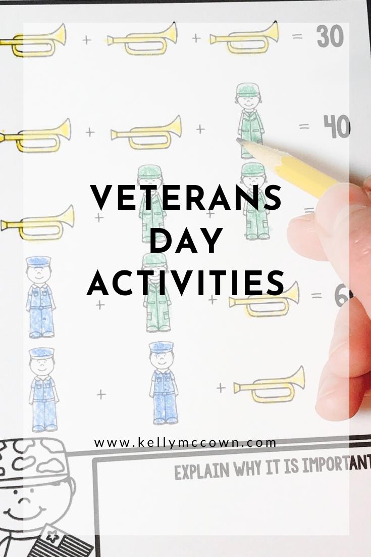 Kelly McCown: Veterans Day Math Activities [ 1102 x 735 Pixel ]