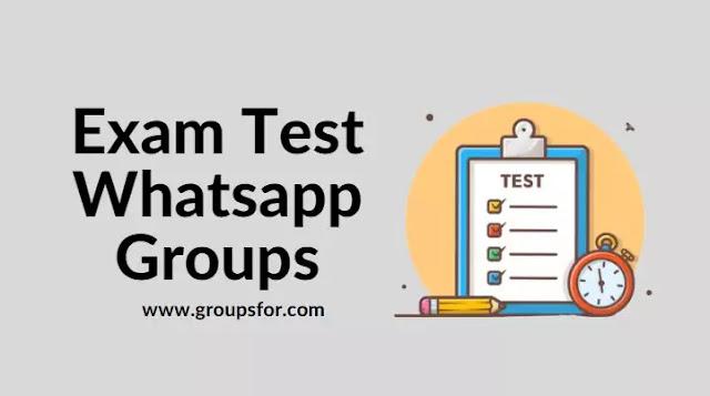 Exam Test Prepare Whatsapp Groups