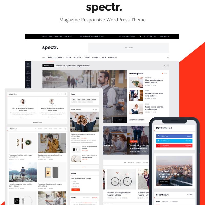 Spectr - Magazine & Blog WordPress Theme