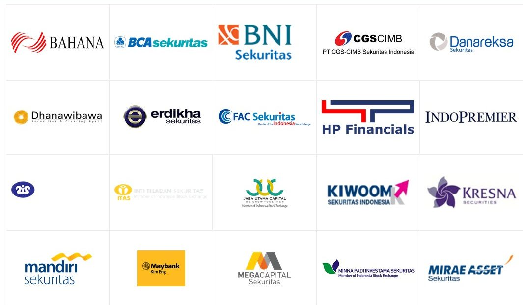 Ilustrasi Logo Sekuritas Di Indonesia. Foto via Pikiran Trader