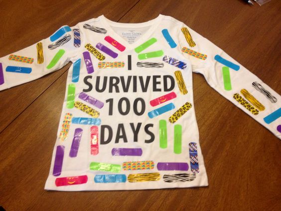 I survived 100 Days of School - Easy 100 Days of School Shirt Idea