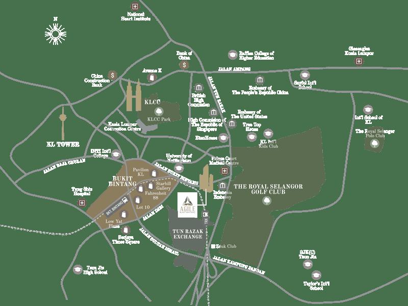 Agile Bukit Bintang Kuala Lumpur Map Location
