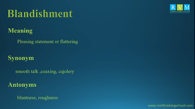 Word Of The Day Blandishment