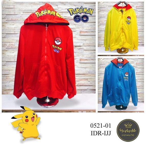 Jual Jacket / Sweater Jaket Pokemon Go Hoodie - 12709