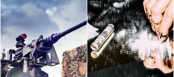 Por cocaína Colombiana El CJNG y El Cártel de Sinaloa intercambian M-4, M.16, M-60 fusiles Colt