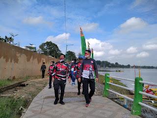 Walikota Jambi Syarif Fasha Tinjau Pembangunan di Lokasi Wisata Danau Sipin