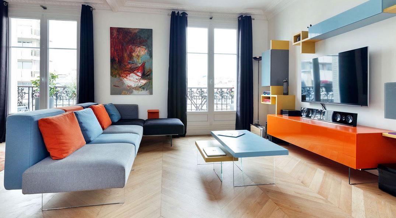 Soggiorni Moderni Colorati: 40 idee di un soggiorno minimal per una ...