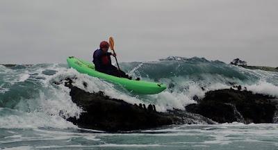 Kayaking ocean rock gardens on the Mendocino Coast