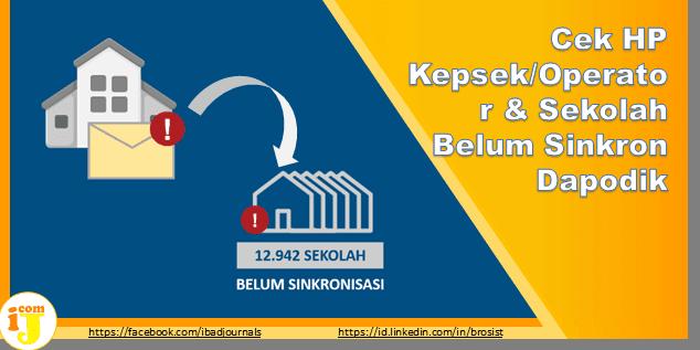 Cek HP Kepsek/Operator & Sekolah Belum Sinkron Dapodik