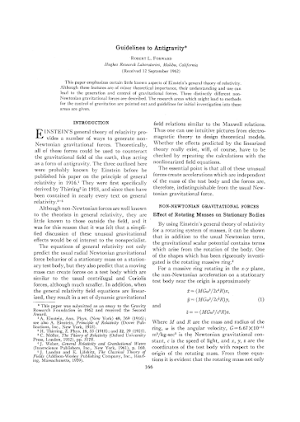 Guidelines to Antigravity   Einstein's General Theory of Relativity
