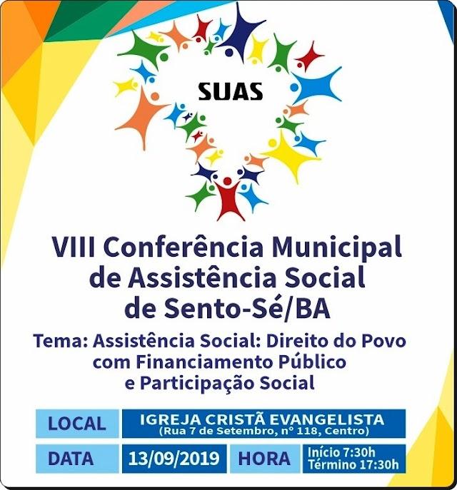 SENTO-SÉ: SECRETARIA DE ASSISTÊNCIA SOCIAL REALIZA VIII CONFERÊNCIA MUNICIPAL
