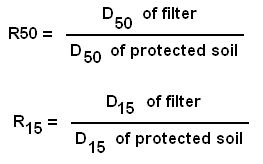 filter ratio of filter for foundation soil