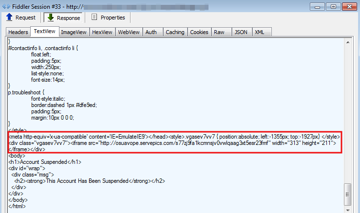 Fake Cpanel Account Suspended Page Serves Exploit Kit