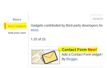 add a Gadget in blogger