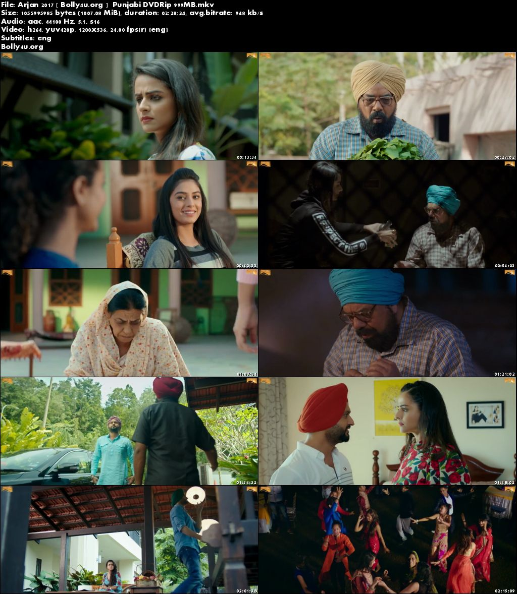 Arjan 2017 DVDRip 400MB Punjabi Movie 480p Download