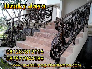 model railing tangga besi tempa, railing tangga klasik, railing tangga besi ulir (2)