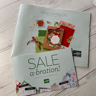 Cover photo of Stampin' Up! July-December 2021 Mini Catalog and Sale-A-Bration brochure