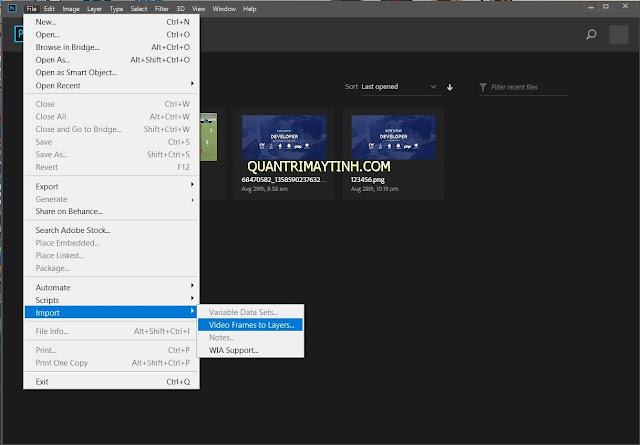Cách chuyển video thành ảnh động .gif bằng Photoshop