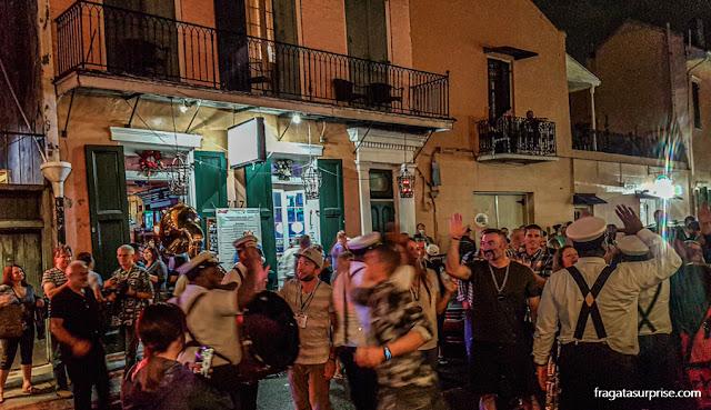 Banda de Jazz no French Quarter, Nova Orleans