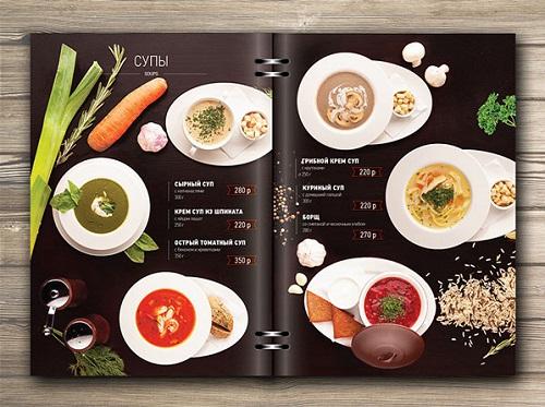 Các mẫu menu nhà hàng đẹp và bắt mắt