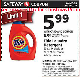 Tide coupons december 2016