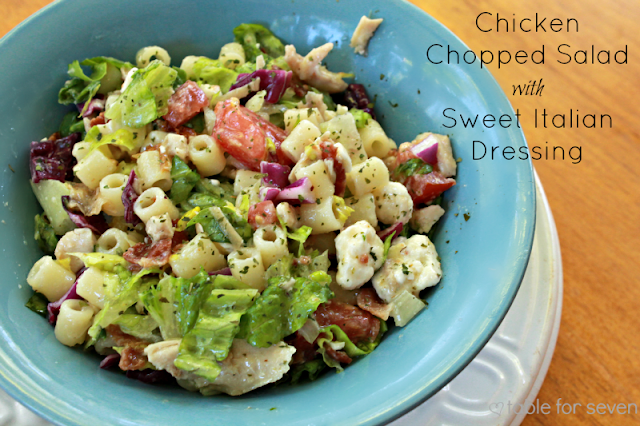 Chicken Chopped Salad with Sweet Italian Dressing