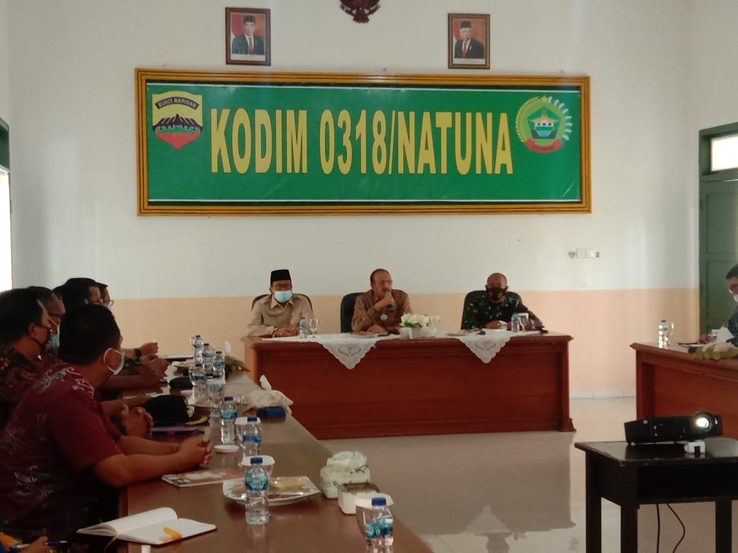 Bupati Natuna Hadiri Rapat Pelaksanaan TMMD Ke 110 Yang Akan Dilaksanakan di Kampung Sebayar Desa