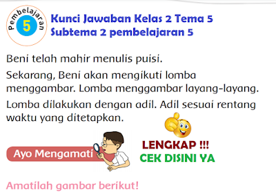 Kunci Jawaban Tematik Kelas 2 Tema 5 Subtema 2 pembelajaran 5 www.simplenews.me
