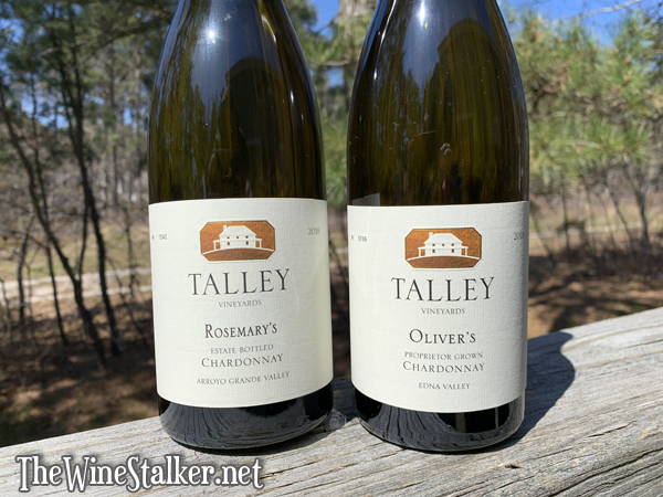 Talley Vineyards Rosemary's Chardonnay 2018 & Oliver's Chardonnay 2018