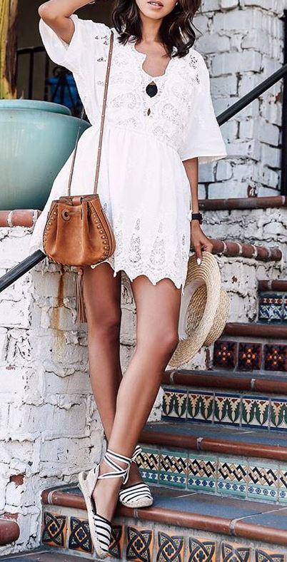 cute boho style outfit idea